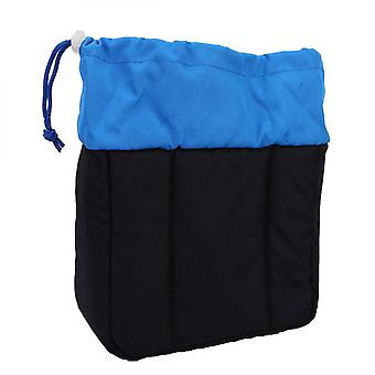 1 Piece Thickened Shockproof Digital Camera Lens Insert Bag Padded Case With Drawstring