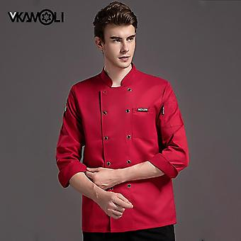 Food Service Long Sleeve Chef Jacket Professional Head Chef Uniform