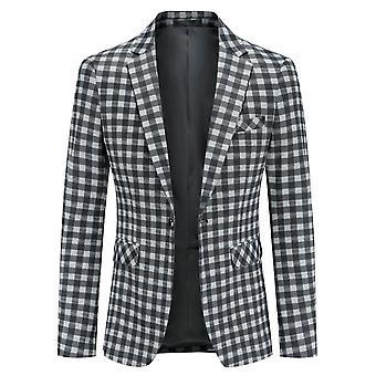 Yunyun Costume pour hommes Un bouton Blazer Veste Slim Fit Manteau d'affaires