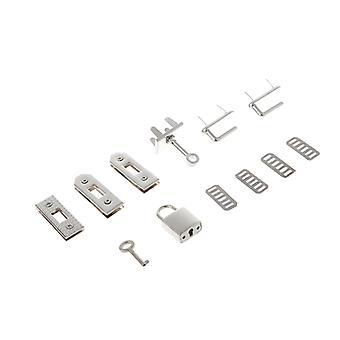 7pcs Clasp Lock Lockbutton Metal Hardware For Diy Handbag Shoulder Bag Purse