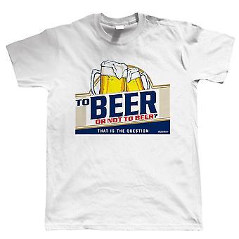 Para cerveja ou não para a cerveja, mens engraçado beber t shirt