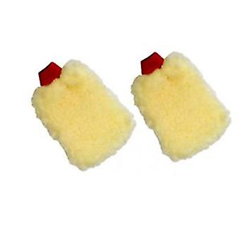 Hyfive Car Detailing Washing Mitten Polishing Dry Dusting Yellow x1