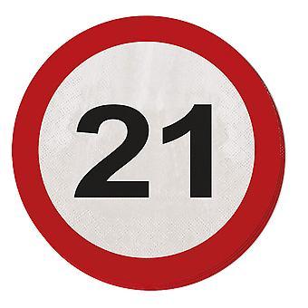 منديل المرور تسجيل حفلة عيد ميلاد علامة على شارع 20 رقم 21
