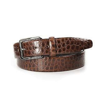 Tresanti Small Crocodile Print Mens Leather Belt