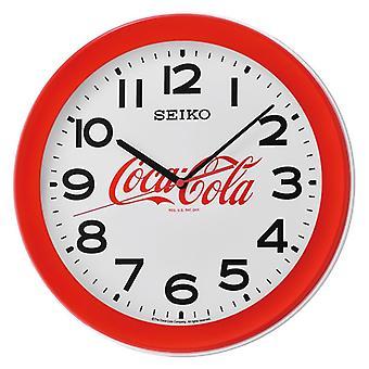 Seiko 3-käsi kvartsi liikkuvuutta Coca-Cola seinäkello - punainen (Mallinro QXA922R)