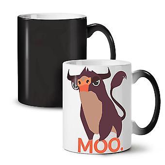 Bull ładny zabawny nowy czarny kolor kreskówka zmiana herbata kawa ceramiczny kubek 11 oz | Wellcoda
