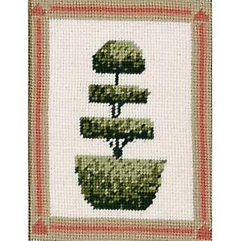 Gelaagde Topiary boom Needlepoint Kit