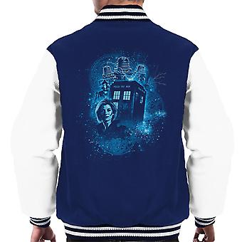 Doctor Who trettonde läkare Cyan mäns Varsity jacka
