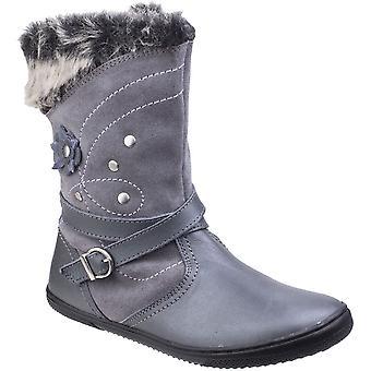 Hush Puppies meisjes Pippa Suade Leather Fur bekleed Pull op Casual laarzen