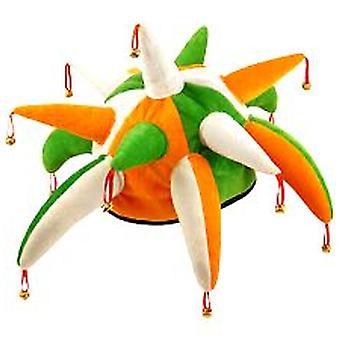 Irlannin Jester hattu kellot - vihreä - valkoinen - Orange (1)