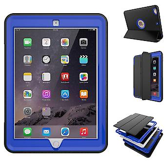 Multi-part hybrid outdoor protective cover case dark blue for new Apple iPad 9.7 2017 Pocket wake UP 3folt
