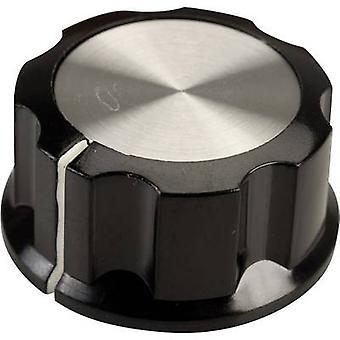 SCI RN-99C(6.4mm) Control knob Black, White (Ø x H) 33 mm x 16 mm 1 pc(s)
