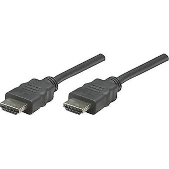 Manhattan HDMI Kabel 1,00 m High Speed HDMI Schwarz [1x HDMI Stecker - 1x HDMI Stecker]