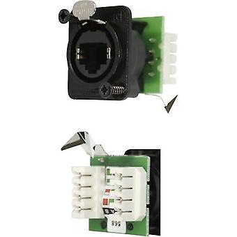Neutrik NE8FDV-YK-B NE8FDV-YK-B RJ45 Data Connector EtherCon D Series 8P8C RJ45-uttag, rak svart