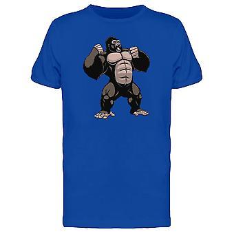 Gorilla slå hans bryst Tee mænds-billede af Shutterstock