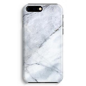 iPhone 8 Plus pełna obudowa głowiczki (błyszcząca) - marmur biały