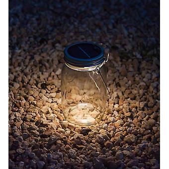 Decorative Solar Light in Mason Jar with Handle - Home Garden Decoration Lighting Solar Light