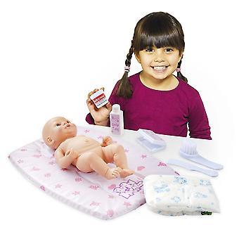 Casdon bebê boneca junto alterando esteira Playset, rosa/branco