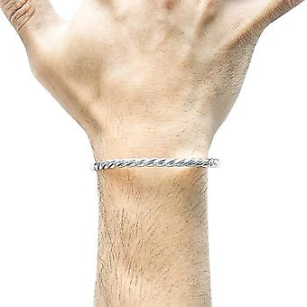 Anchor and Crew Gammell Full Rope Bangle - Silver