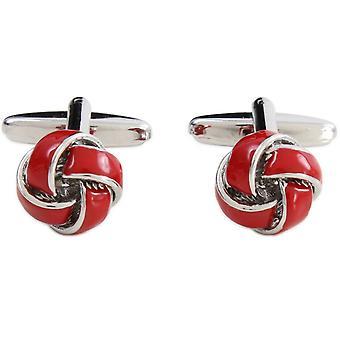 David Van Hagen boutons de manchette noeud - rouge