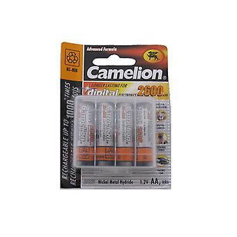Camelion wiederaufladbare AA/LR06 NimH Batterie 1, 5V-2600 mAh (4 Stück)