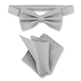 Vesuvio Napoli noeud papillon rayé rayures verticales Mens noeud papillon & mouchoir