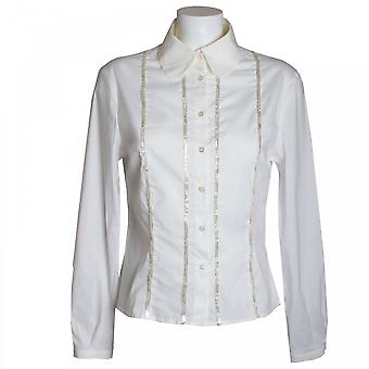Tuzzi Blouse With Gold Detail