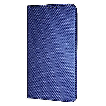 テクスチャブック スリム iPhone XR ウォレット ケース ブルー