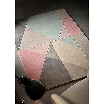 Design Matters Rectangle bleu gris rose tapis tapis Funky