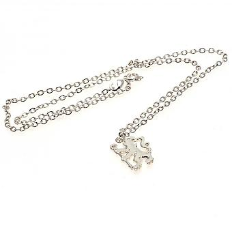 Chelsea FC Silver Plated Lion Pendant And Chain