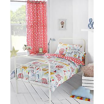 Riva Paoletti Childrens/Kids Vintage Circus Ringtop Eyelet Curtains