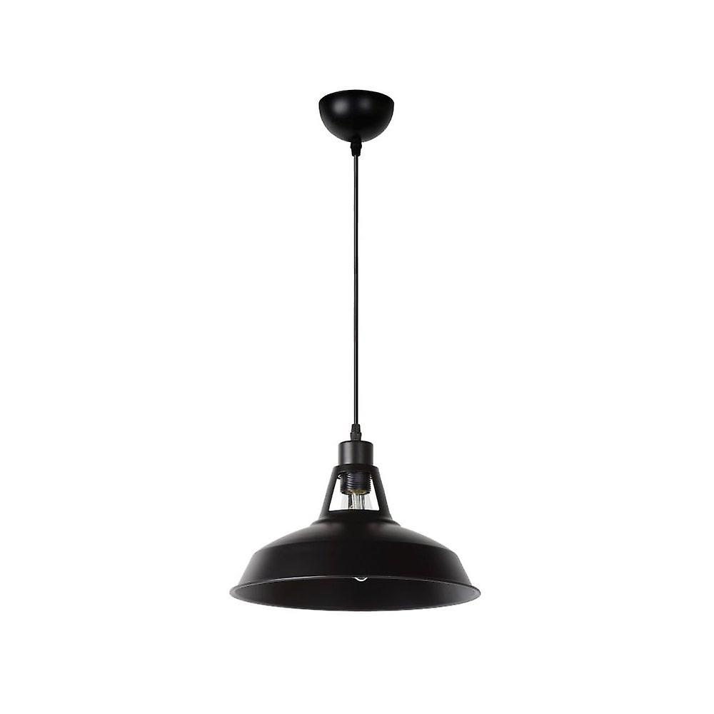Lucide Brassy Bis industrielle runde metall svart anheng lys