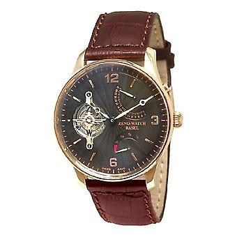 זנו-Watch שעון הגברים Tourbillon מילואים כוח רטרוגרדי 18ct זהב 6791TT-RG-f1