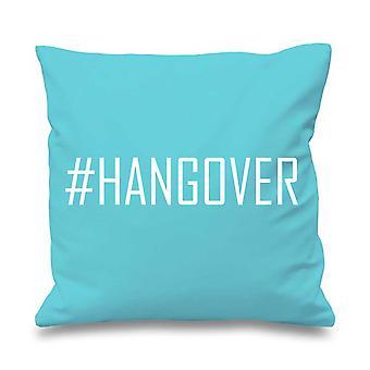 "Aqua Cushion Cover #Hangover 16"" x 16"""