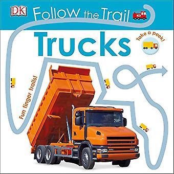 Følg stien: lastebiler (Følg stien) [brettet boken]