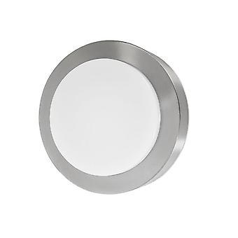 Forlight - reloj acero inoxidable LED luminaria de pared al aire libre PX-0279-INO