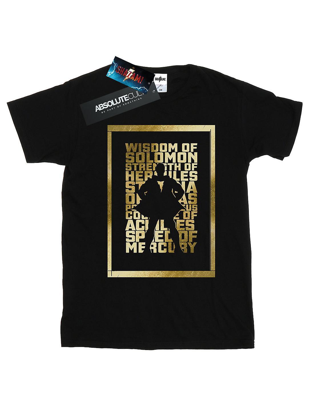 DC Comics Men's Shazam Gold Text T-Shirt