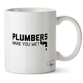 Plombiers Hippowarehouse vous faire mouiller le papier tasse tasse en céramique 10oz