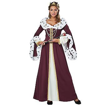 Royal Storybook Queen Renaissance medeltida Saga bok vecka Womens kostym