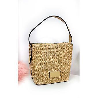 IKRUSH Womens Tatiana Wicker Woven Handbag