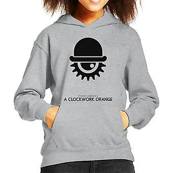A Clockwork Orange Hat And Eye Movie Silhouette Kid's Hooded Sweatshirt