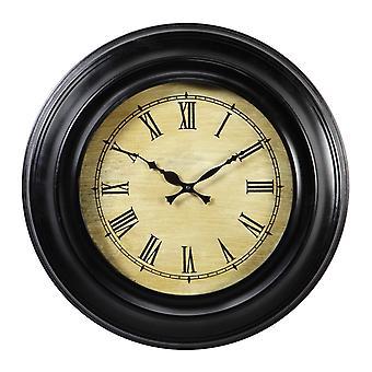 Reloj redondo de Seba madera negro