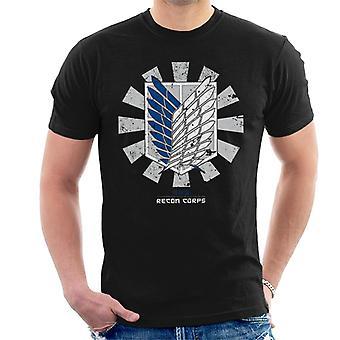 Recon Corps Retro Japanese Attack On Titan Men's T-Shirt