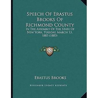 Speech of Erastus Brooks of Richmond County - In the Assembly of the S