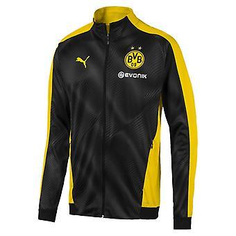 2019-2020 Borussia Dortmund Puma Stadium Jacket (Black-Yellow)