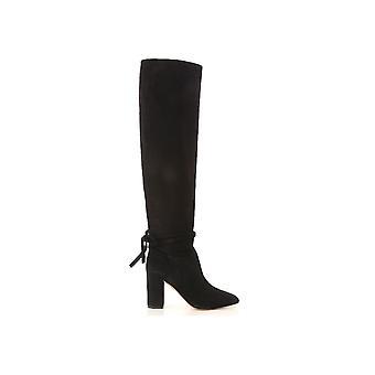 Aquazzura Maomidb0sue000 Kvinnor's Black Suede Boots