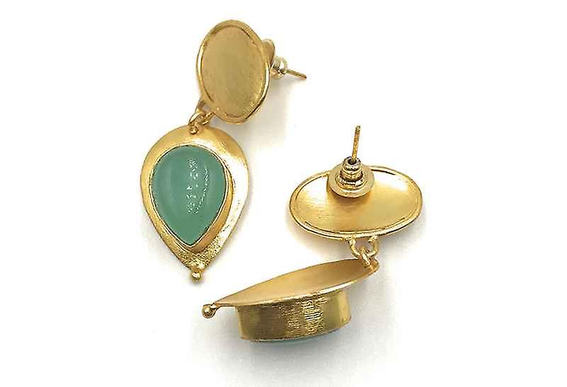 Handmade Statement Tears of Joy Chalcedony Gemstone Earrings
