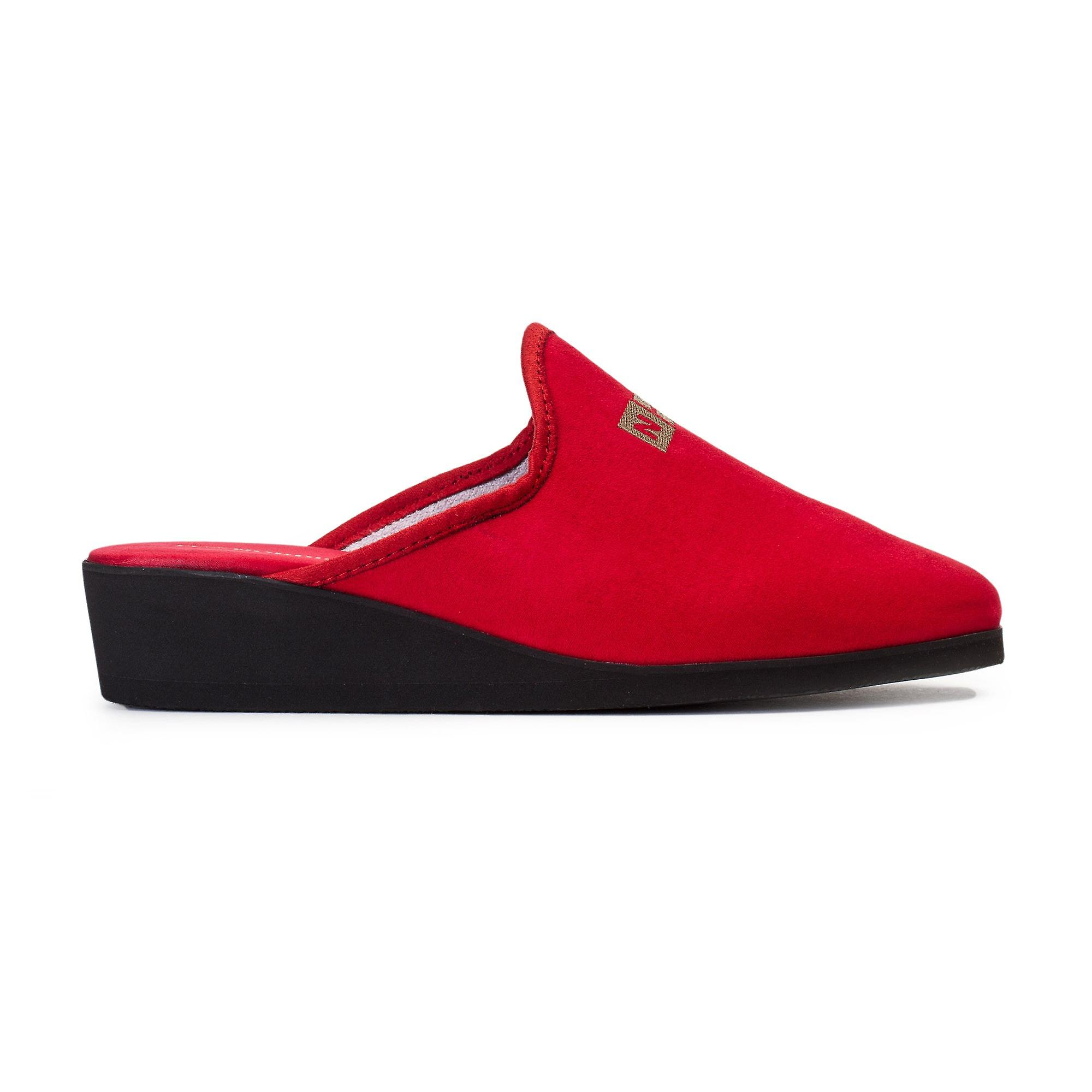 Lady Mrs Red Microsuede