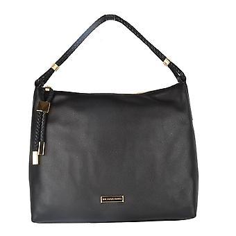 MICHAEL by Michael Kors Lexington Large Black Leather Shoulder Bag