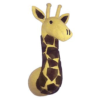 Fiona Walker England Giraffe Mini Felt Animal Head, Wall Mounted